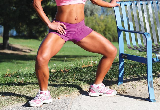 Plie squats for inner thighs - IMAGE - Women's Healath & Fitness